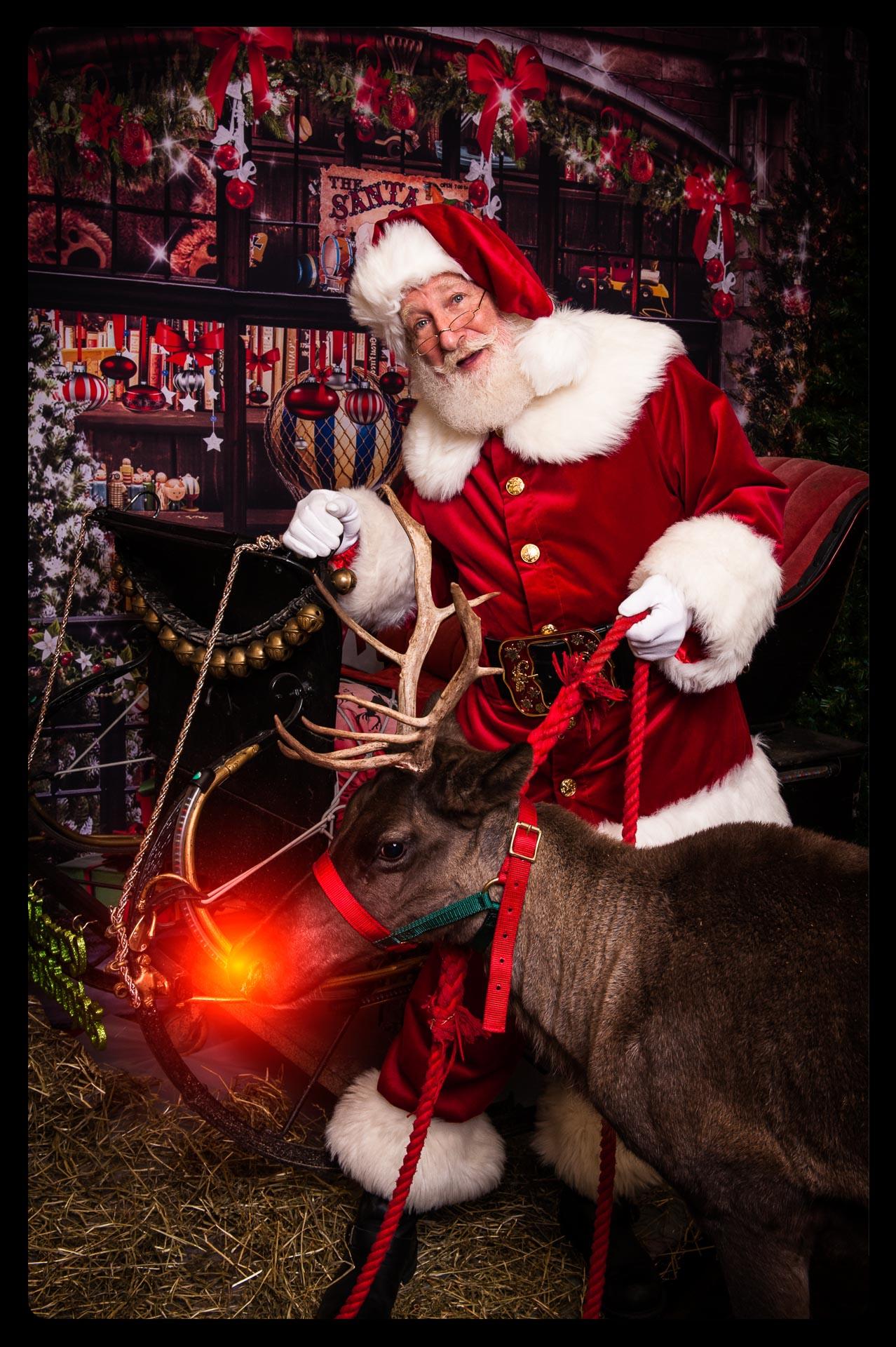 Santa Rick and Rudolph